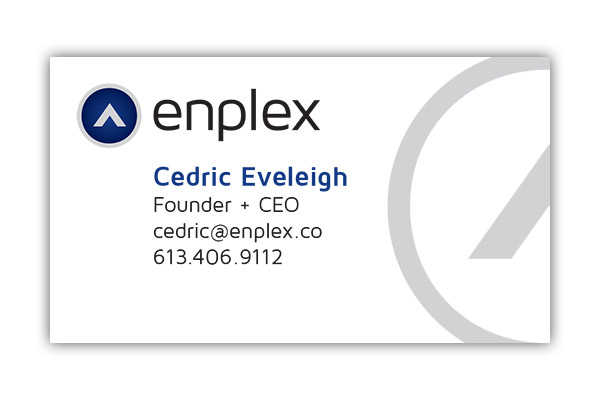 Enplex business card graphic design in ottawa sarah brethour enplex business card design by sarah brethour reheart Image collections