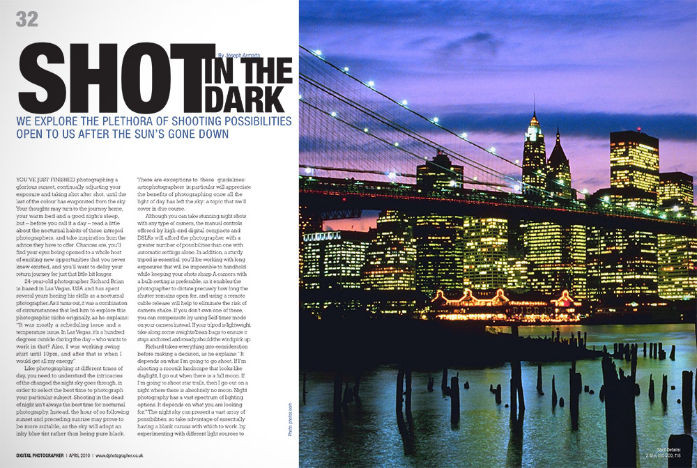 digital photographer article layout graphic design in ottawa